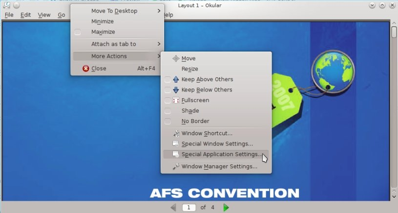 IMG: Right-click on Title bar → More Actions → Special Application Settings...
