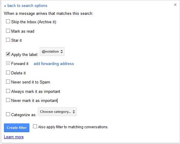 gmail filter screen 2
