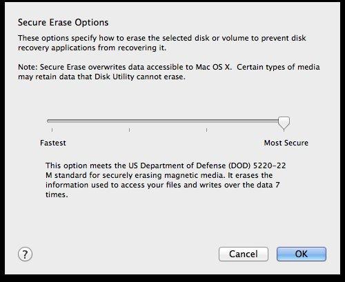 Secure Erase Options