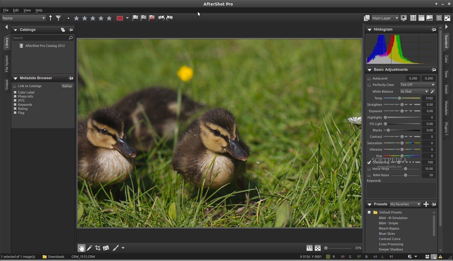 AfterShot Pro UI