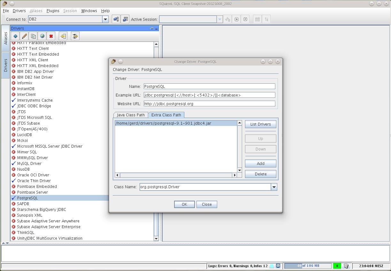 SQuirreL SQL - drivers