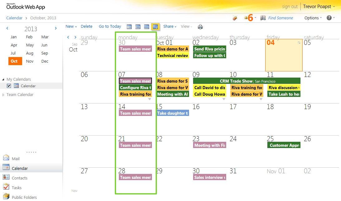 OWA Calendar Old