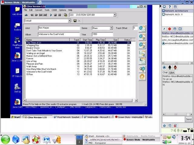 WebHuddle screen shot