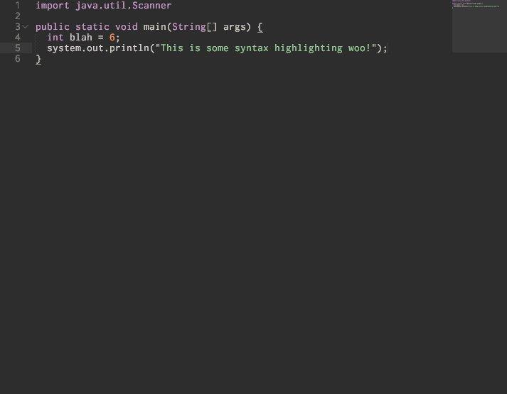 Java highlighting