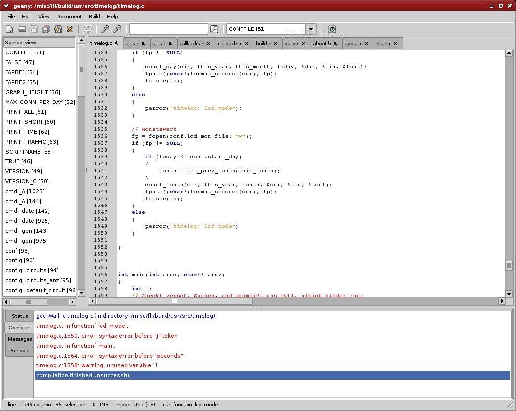 Screenshot found online of software